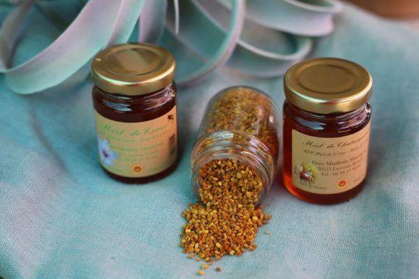 coffret découverte miel et pollen corse