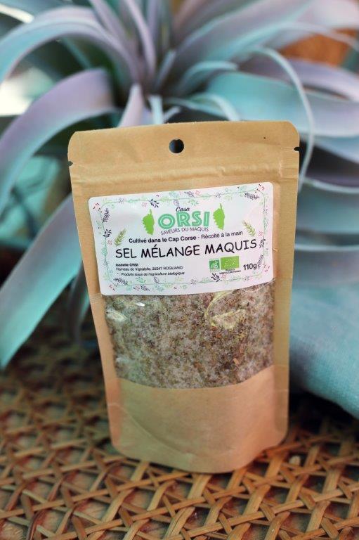 sel mélange du maquis sachet 110 g corse